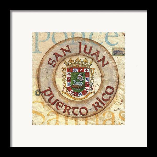 Puerto Rico Coat Of Arms Framed Print By Debbie Dewitt