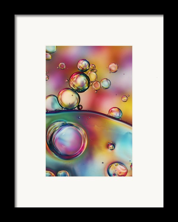 Rainbow Bubble Drops Framed Print By Sharon Johnstone