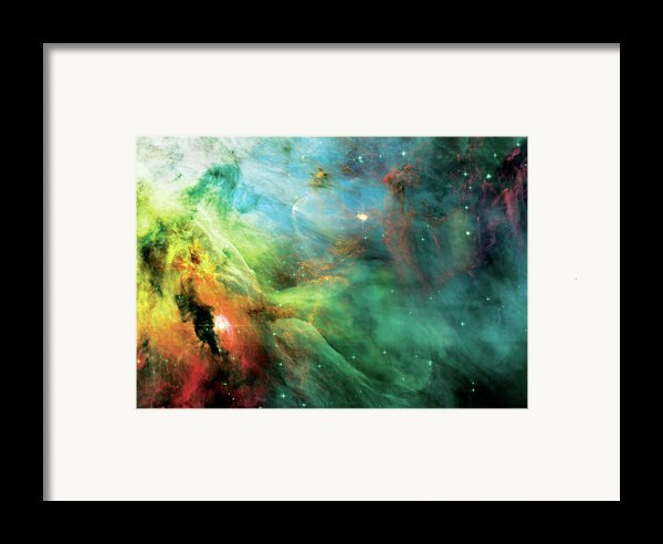 Rainbow Orion Nebula Framed Print By The  Vault - Jennifer Rondinelli Reilly
