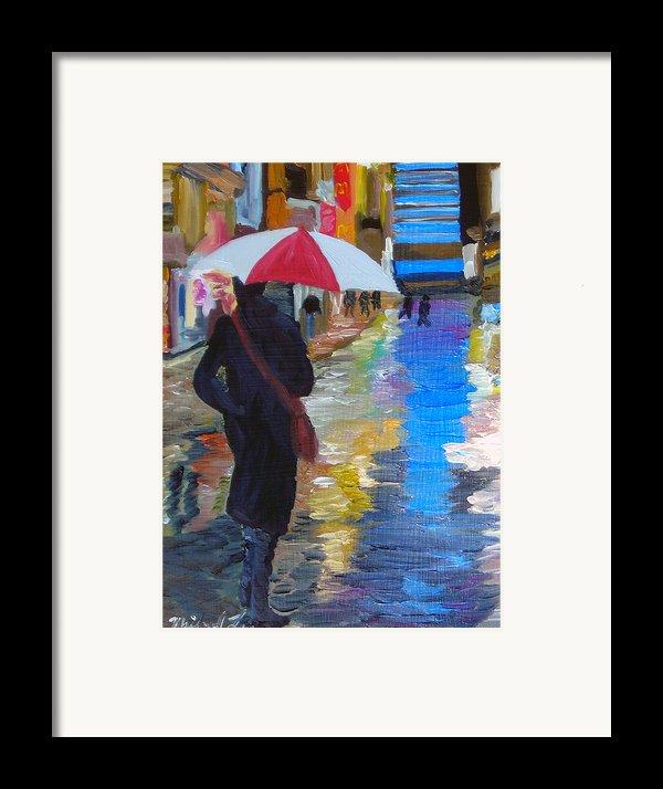 Rainy New York Framed Print By Michael Lee