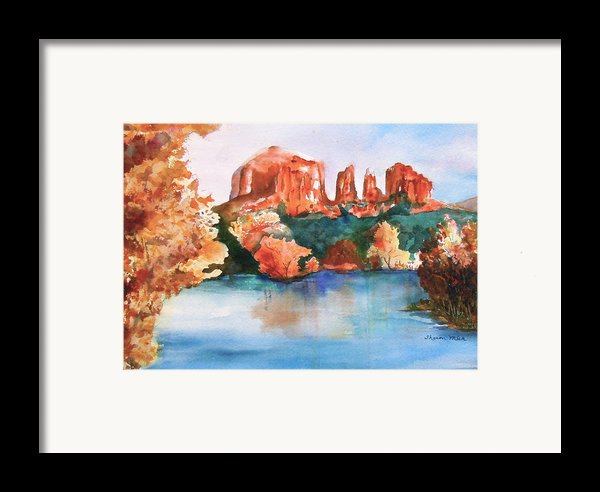 Red Rock Crossing Framed Print By Sharon Mick