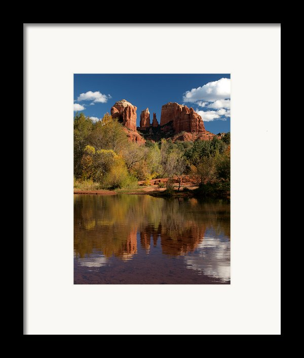 Reflections Of Sedona Framed Print By Joshua House