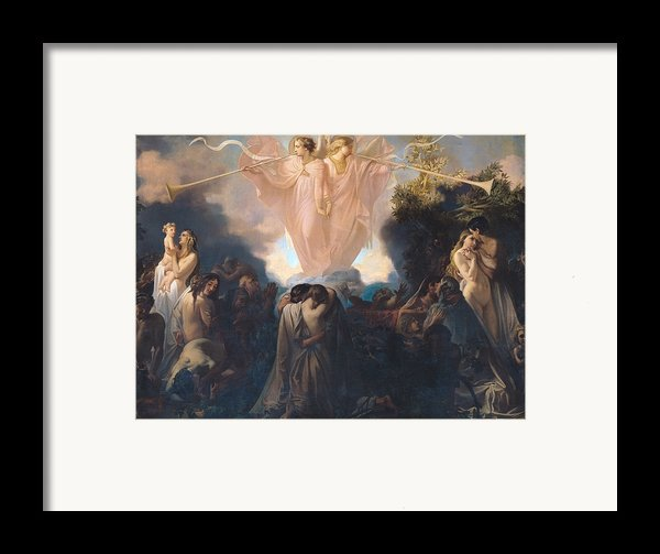 Resurrection Of The Dead Framed Print By Victor Mottez