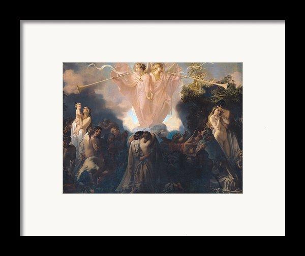 Resurrection Of The Dead Framed Print By Victor Mottez