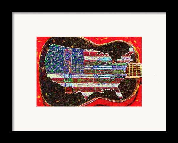 Rock And Roll America 20130123 Red Framed Print By Wingsdomain Art And Photography