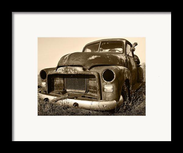 Rusty But Trusty Old Gmc Pickup Framed Print By Gordon Dean Ii