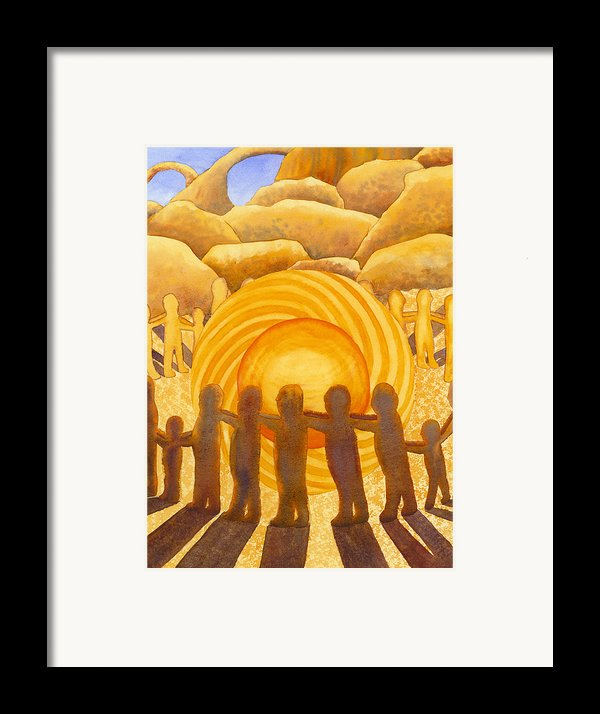Sacral Chakra Framed Print By Catherine G Mcelroy