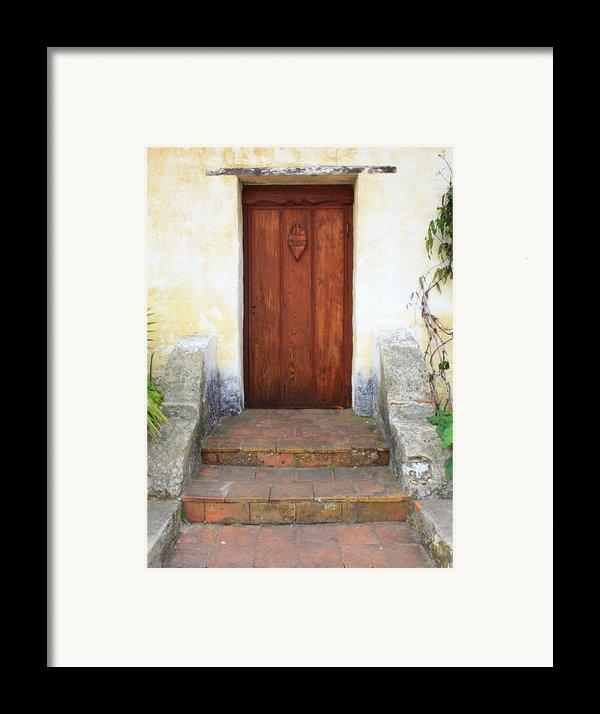 Sacred Heart Door Framed Print By Carol Groenen