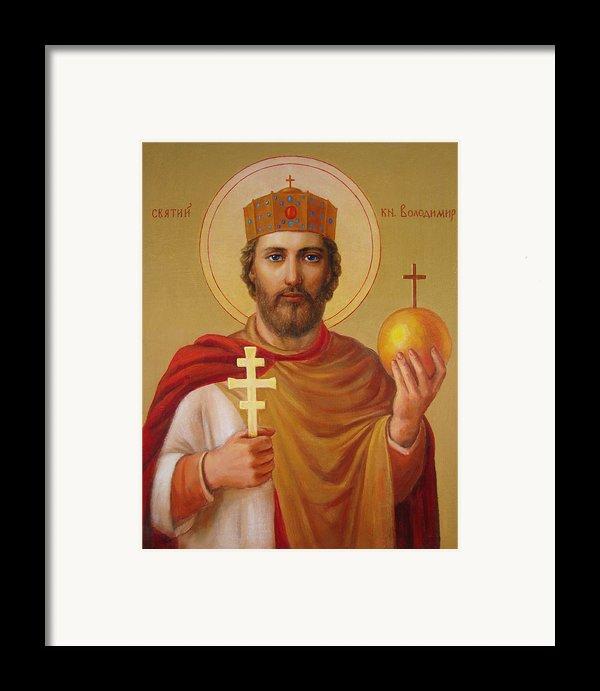 Saint Volodymyr Framed Print By Svitozar Nenyuk