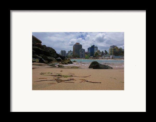 San Juan Beach Iv Framed Print By Anna Villarreal Garbis