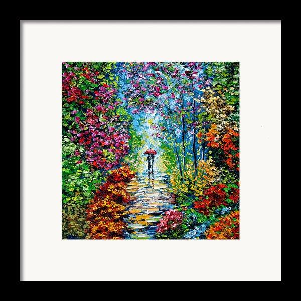 Secret Garden Oil Painting - B. Sasik Framed Print By Beata Sasik