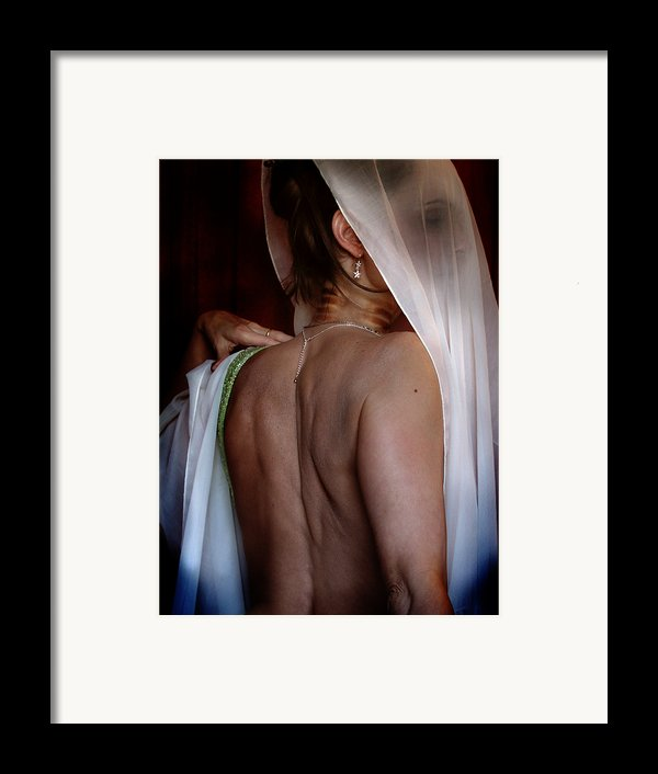 Self Portrait - The Hiding Framed Print By Karen Musick