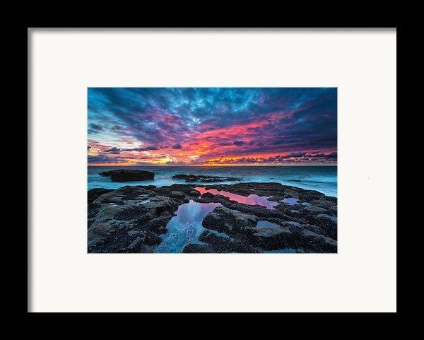 Serene Sunset Framed Print By Robert Bynum