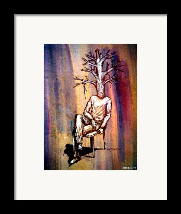 Series Trees Drought 2 Framed Print By Paulo Zerbato