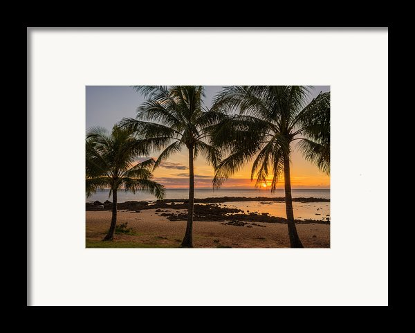 Sharks Cove Sunset 4 - Oahu Hawaii Framed Print By Brian Harig