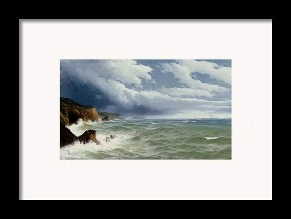 Shipping In Open Seas Framed Print By David James