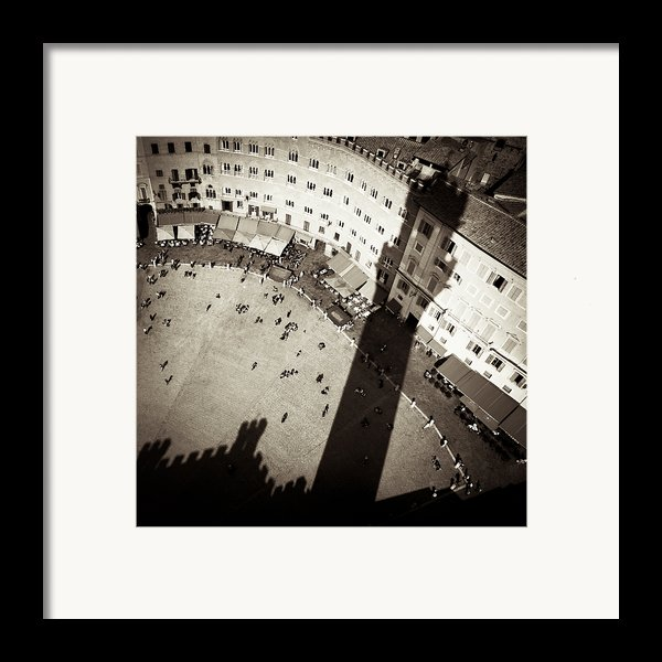 Siena From Above Framed Print By Dave Bowman