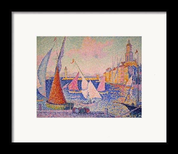 Signac: St. Tropez Harbor Framed Print By Granger