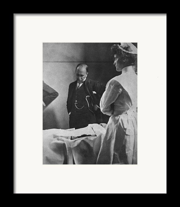 Sir William Osler 1849 � 1919, Reading Framed Print By Everett