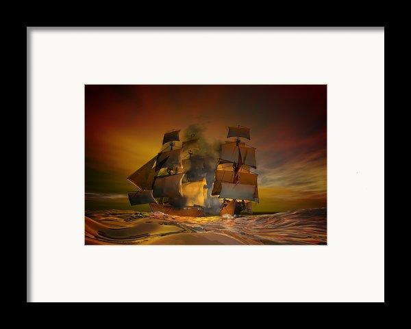 Skirmish Framed Print By Carol And Mike Werner