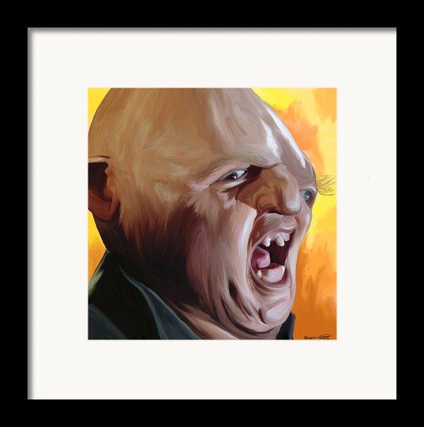 Sloth From Goonies Framed Print By Brett Hardin