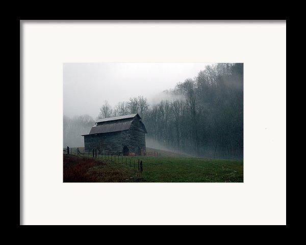 Smokey Mountains Barn Framed Print By Kathy Schumann