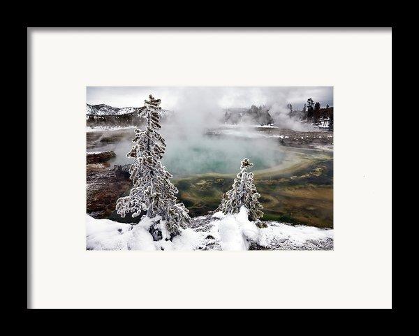 Snowy Yellowstone Framed Print By Jason Maehl