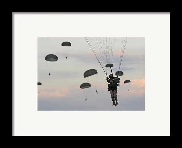 Soldiers Of The 82nd Airborne Descend Framed Print By Everett