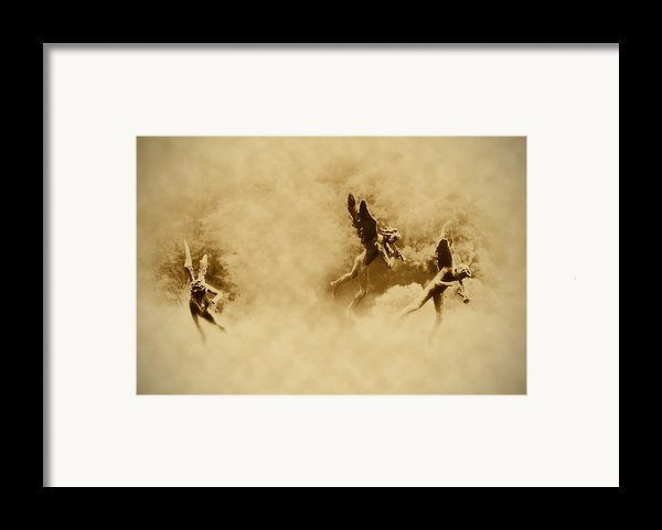 Song Of The Angels In Sepia Framed Print By Bill Cannon