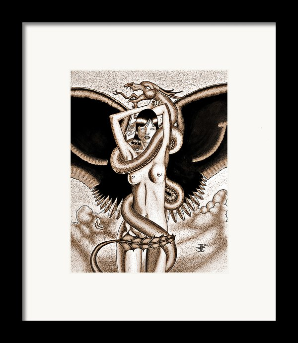 Souls Entwined Antiqued Framed Print By Robert Ball