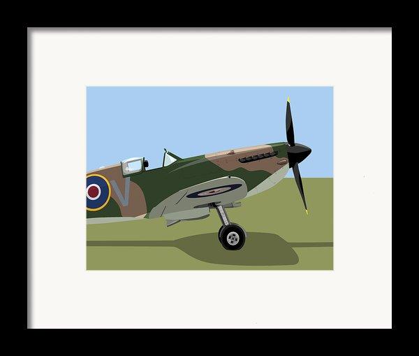 Spitfire Ww2 Fighter Framed Print By Michael Tompsett