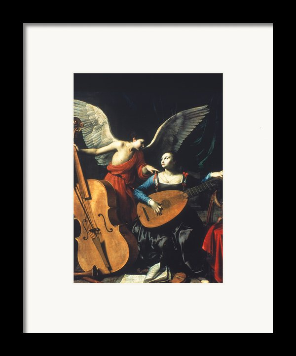 St. Cecilia And The Angel Framed Print By Granger