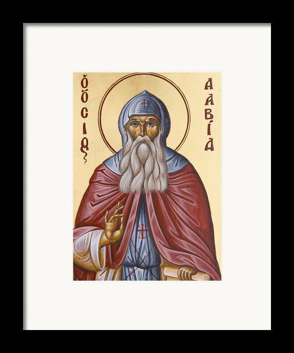 St David Of Evia Framed Print By Julia Bridget Hayes