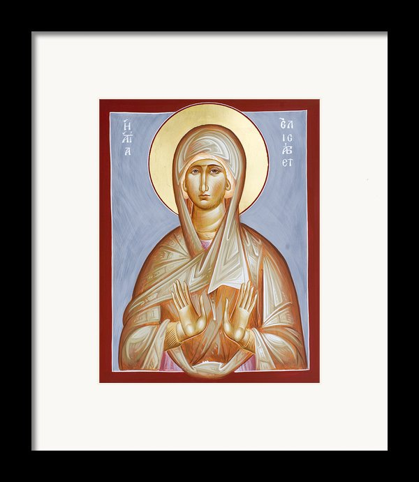 St Elizabeth Framed Print By Julia Bridget Hayes