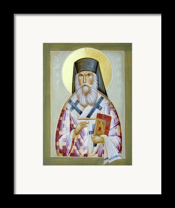St Nektarios Of Aigina Ii Framed Print By Julia Bridget Hayes