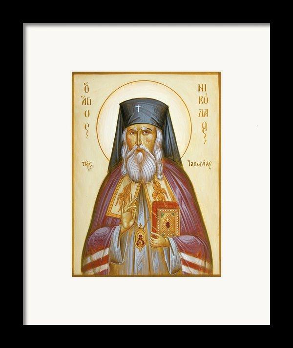 St Nicholas Of Japan Framed Print By Julia Bridget Hayes