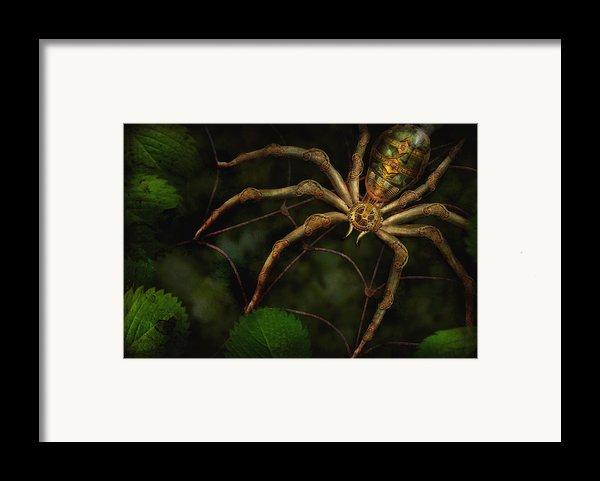 Steampunk - Spider - Arachnia Automata Framed Print By Mike Savad