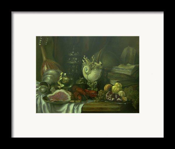 Still-life With A Lobster Framed Print By Tigran Ghulyan