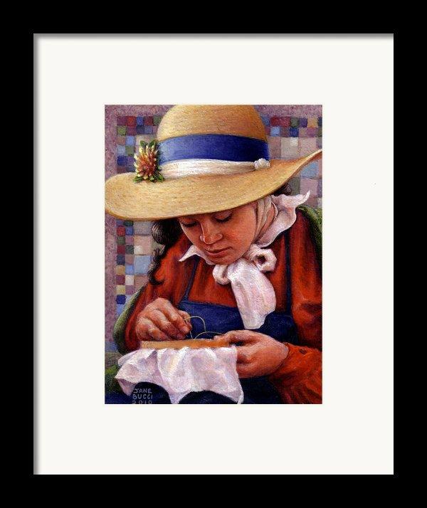 Stitch In Time Framed Print By Jane Bucci