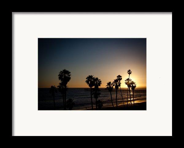 Sun Going Down In California Framed Print By Ralf Kaiser