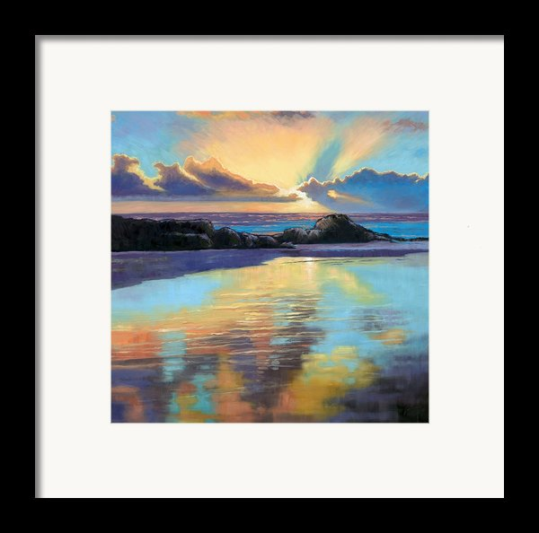 Sunset At Havika Beach Framed Print By Janet King