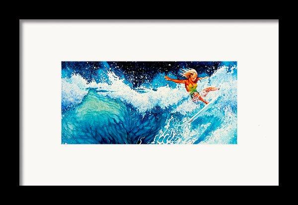 Surfer Girl Framed Print By Hanne Lore Koehler