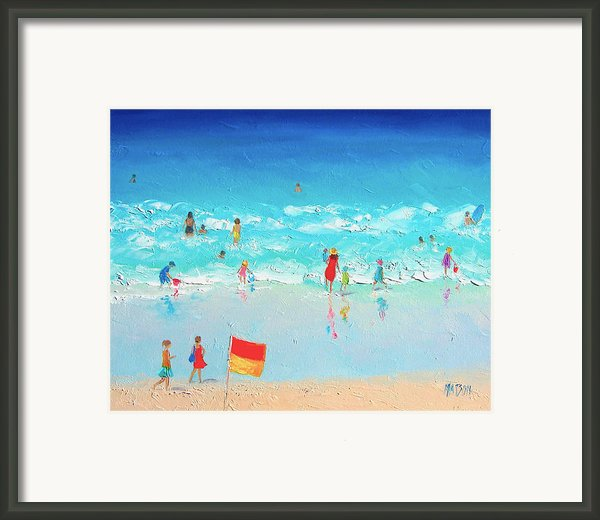 Swim Day Framed Print By Jan Matson