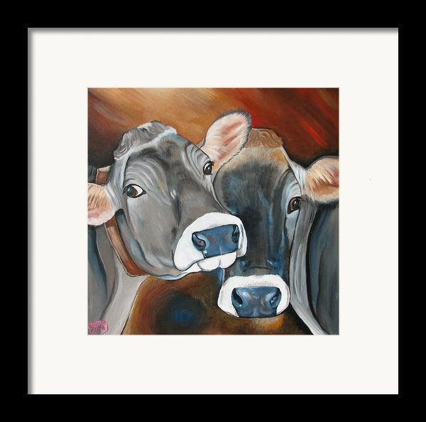 Swiss Misses Framed Print By Laura Carey