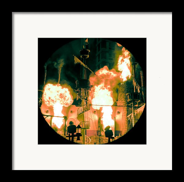 Target In Flames Framed Print By Andy Smy