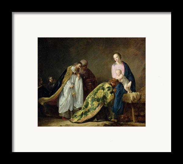 The Adoration Of The Magi Framed Print By Pieter Fransz De Grebber