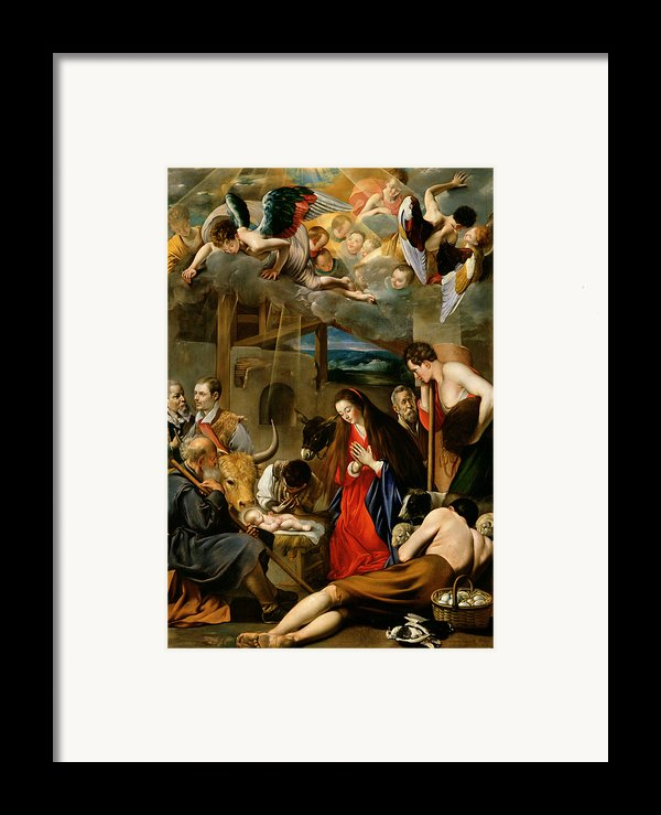 The Adoration Of The Shepherds Framed Print By Fray Juan Batista Maino Or Mayno