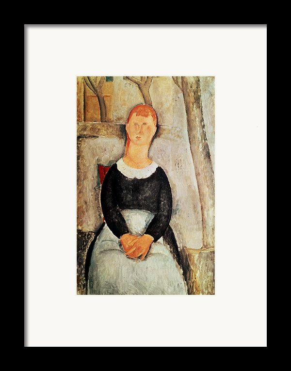 The Beautiful Grocer Framed Print By Amedeo Modigliani