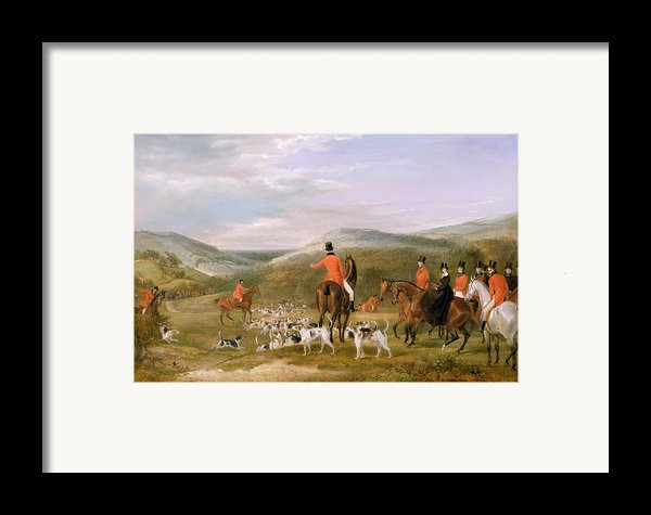 The Berkeley Hunt Framed Print By Francis Calcraft Turner