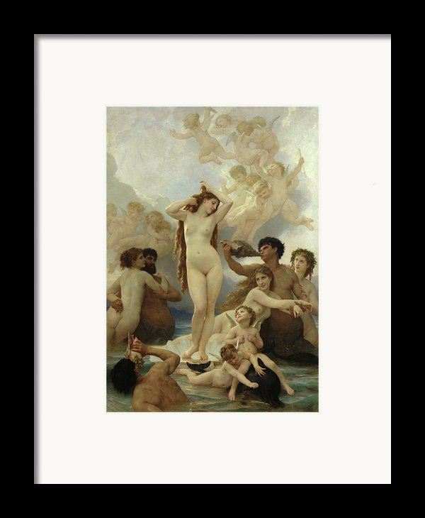 The Birth Of Venus Framed Print By William-adolphe Bouguereau